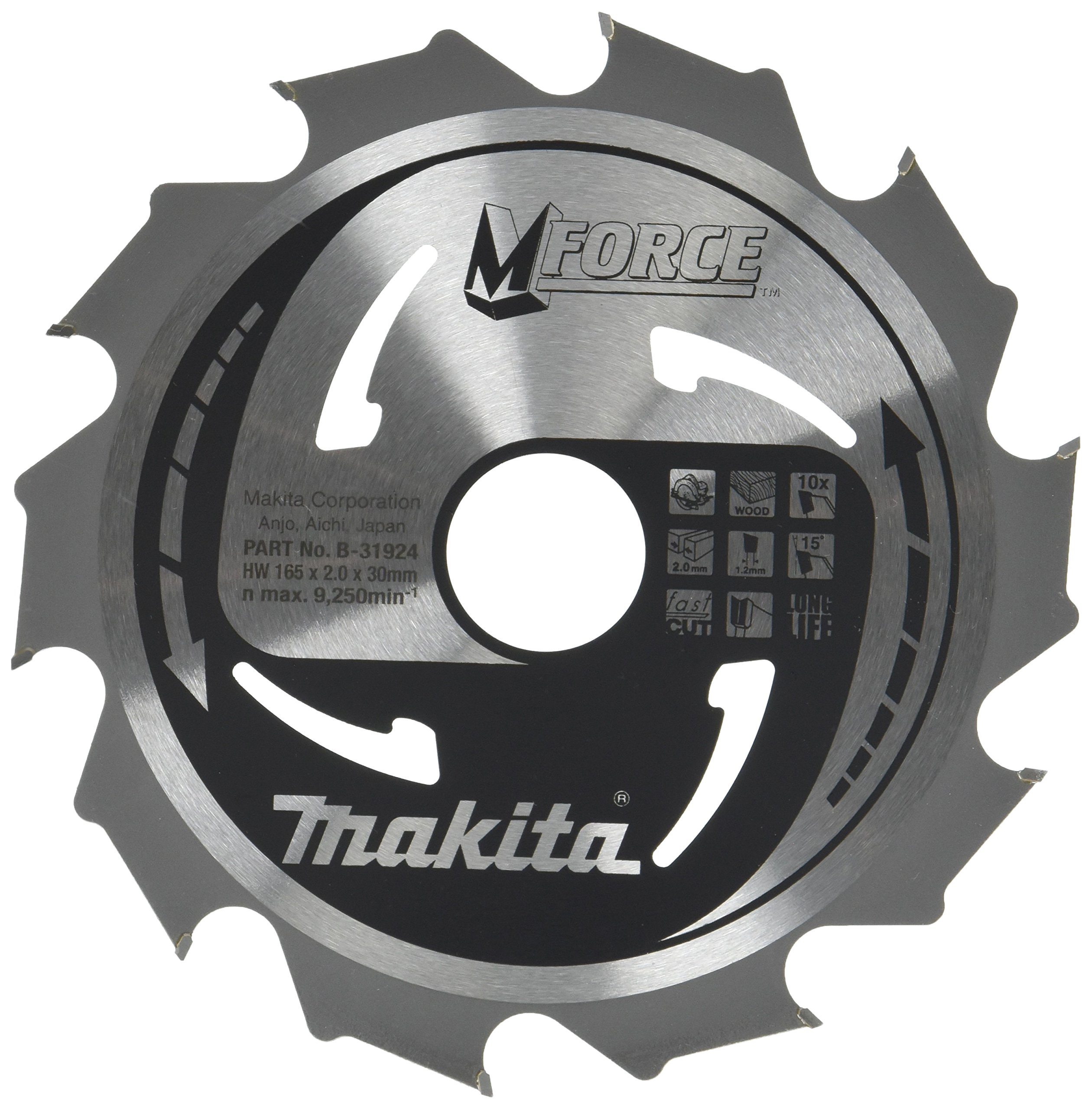 B-31924 M-Force Saw Blade 6.5inx30mm 10Teeth by Makita (Image #1)