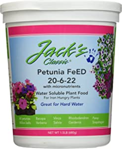 J R Peters Inc 52624 Jacks Classic No.1.5 20-6-22 Petunia Feed
