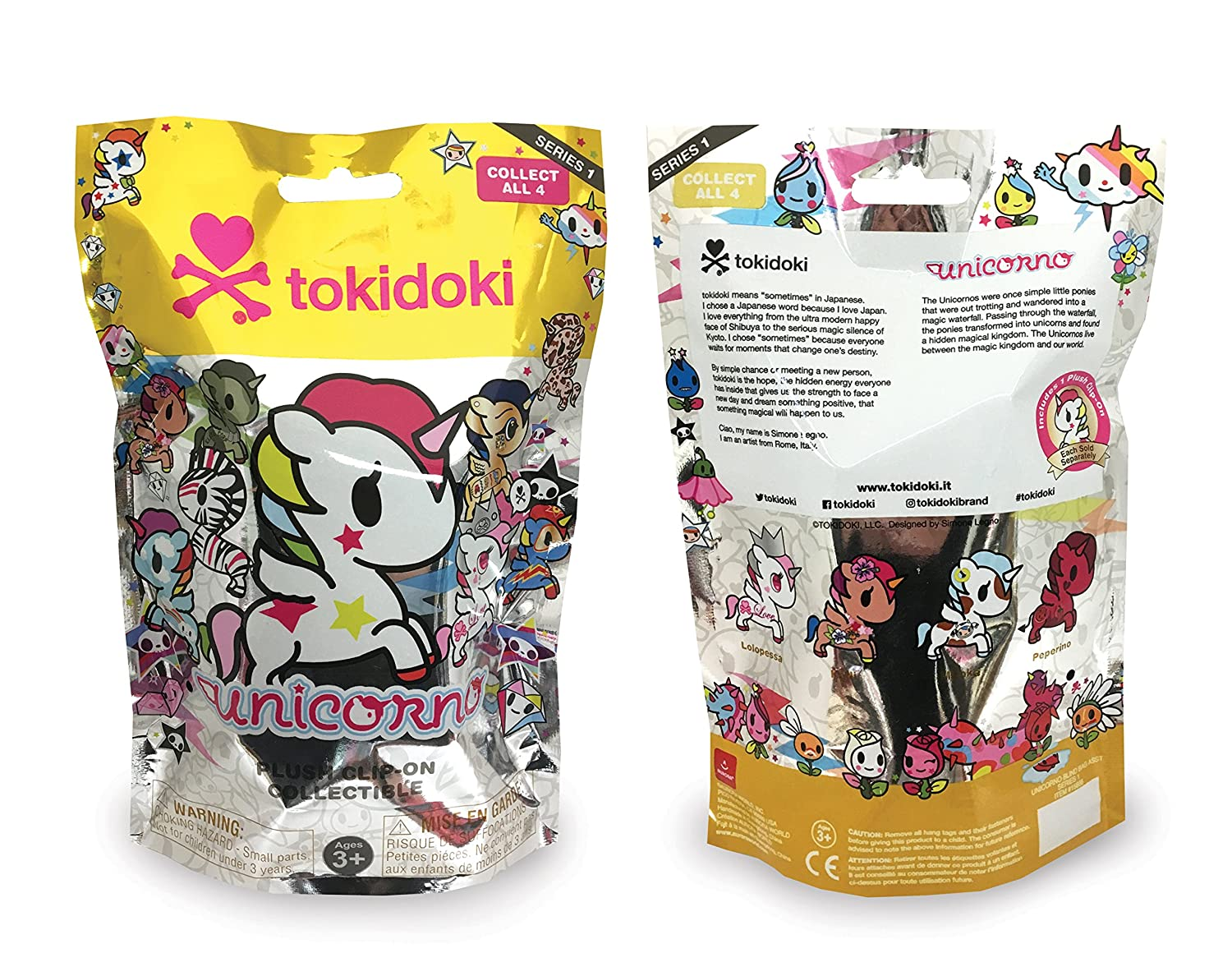 Unicorno Blind Bag 4.5 tokidoki Clip-on Plush 15666