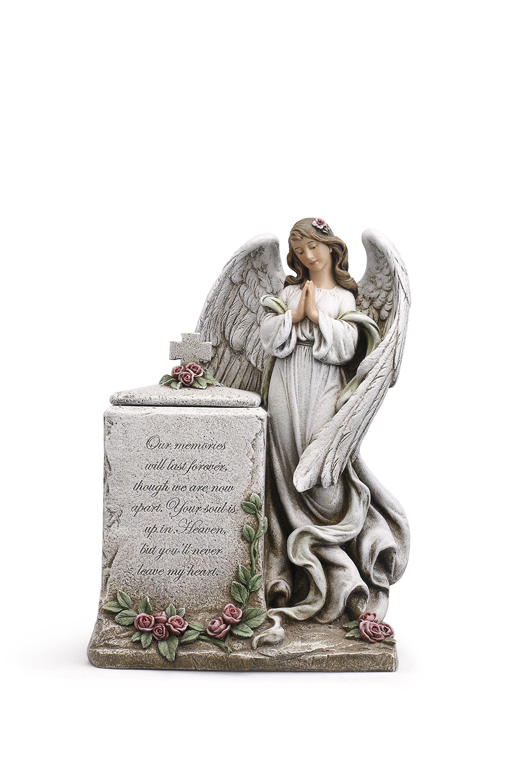 Praying Angel Inspirational 8 x 12 Inch Resin Decorative Bereavement Urn Box
