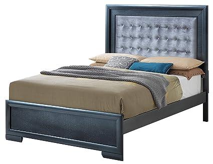 c895d88db386a1 Amazon.com: Glory Furniture Kat G5650A-QB Queen, Pearl Black Bed ...