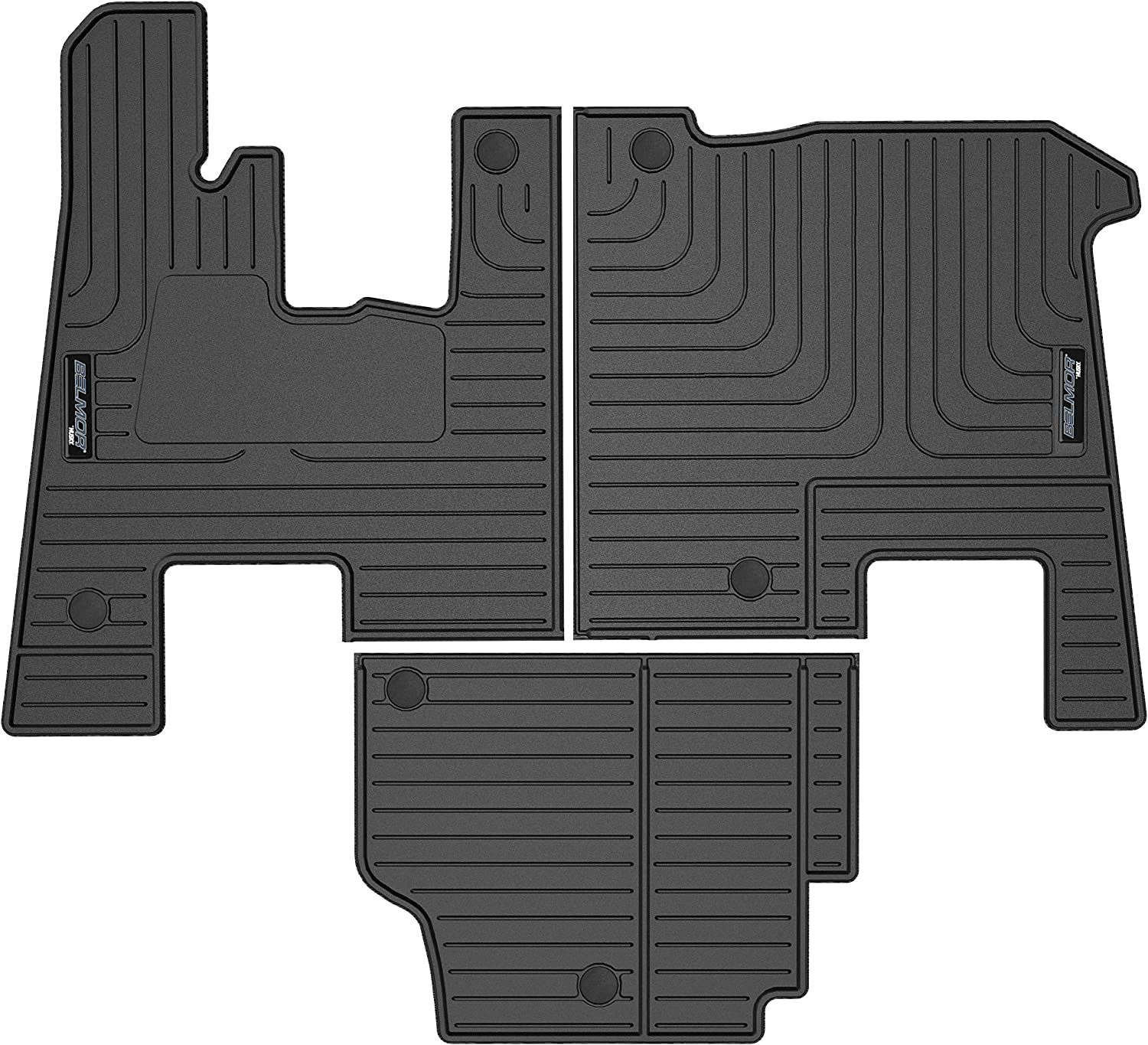 Belmor by Husky Floor Liners Fits 2008-2020 Peterbilt 367//386//389 with Automatic Transmission