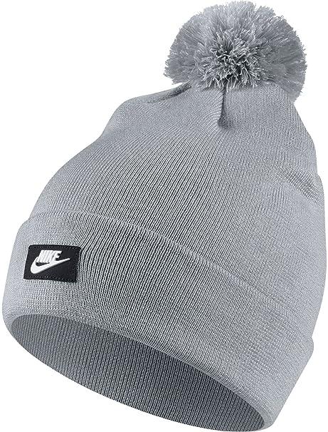 c0afdfcb6a1f5 Nike 878119,012 Bonnet Mixte Adulte, Gris Loup/Blanc, FR Fabricant Taille  Unique Amazon.fr Sports et Loisirs ...