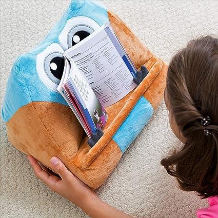 Gifts for Readers & Writers Cojín de Lectura Infantil - Soporte para Libros, iPad y Tablets | El Atril de Peluche Extra Suave y Divertido es el Regalo ...