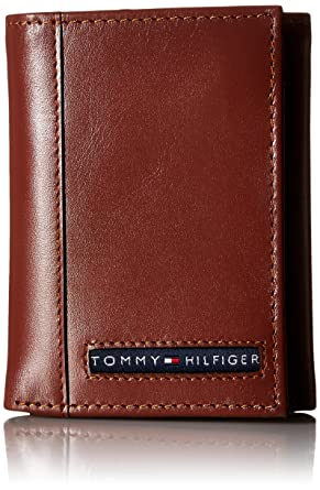 Tommy Hilfiger Logan Trifold - Cartera de piel Para Hombre - Beige - talla única: Amazon.es: Ropa y accesorios