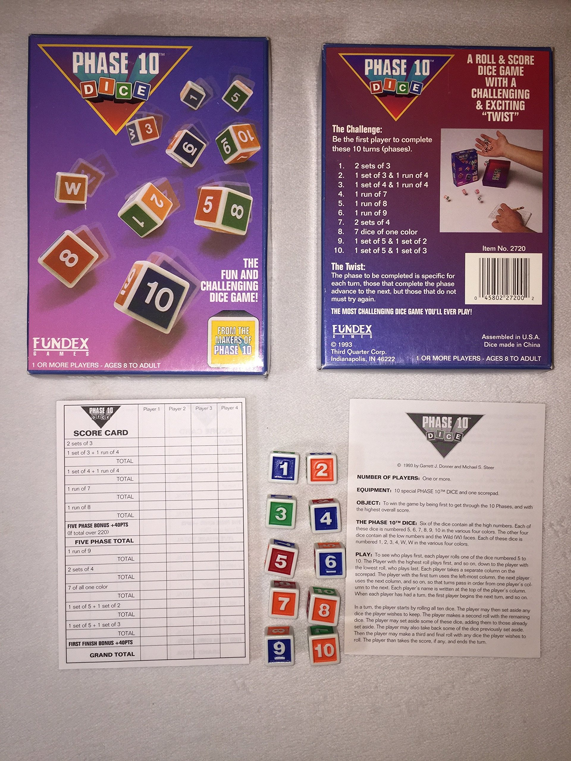 Phase 10 Dice; a Roll & Score Dice Game