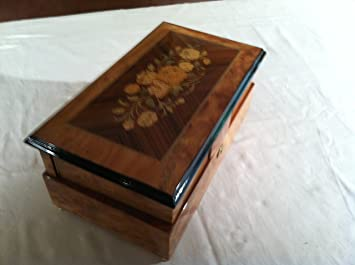 Amazon com: Extra Large Reuge Music Box Hand Made in Italy