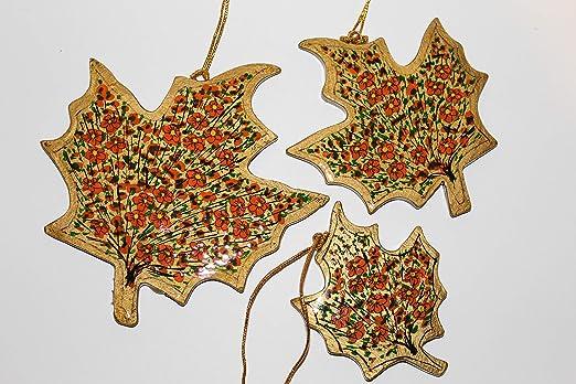 Set of 3 Royal Handicrafts Handcrafted Paper Mache Star