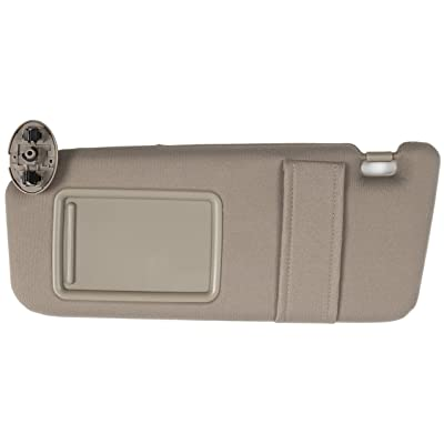 Ezzy Auto Beige Left Driver Side Sun Visor fit for Toyota Camry Without Sunroof 2007 2008 2009 2010 2011: Automotive