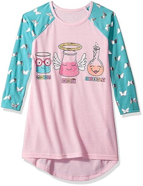 Komar Kids Niñas Science Class Jersey Nightgown Bata para Dormir: Amazon.es: Ropa y accesorios