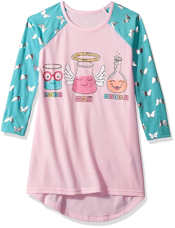 Amazon.com: Komar Kids Girls Big Printed Long Sleeve Jersey Nightgown: Clothing