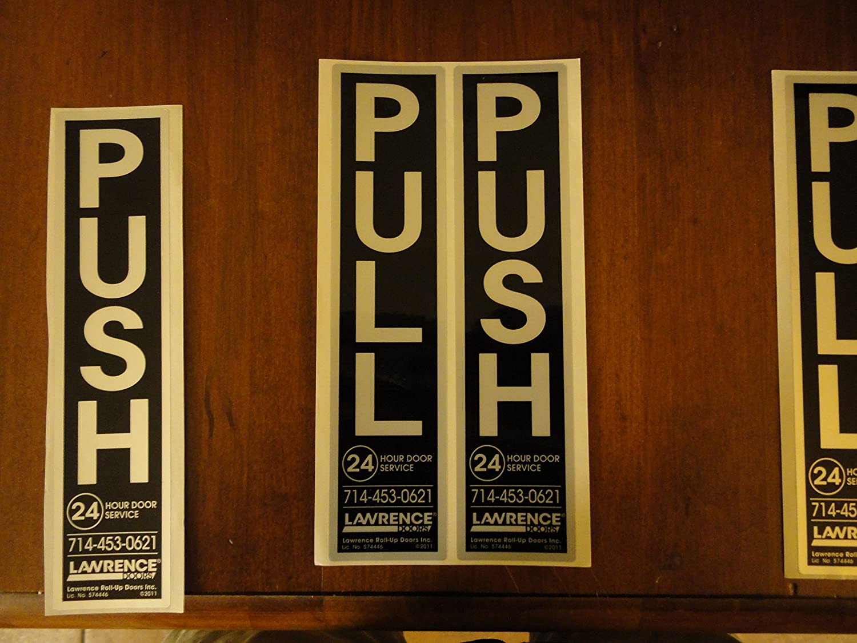 Com Pull Push Vertical Set Aluminum Sign 2 Signs Kit 5 X 1 Yard Garden Outdoor
