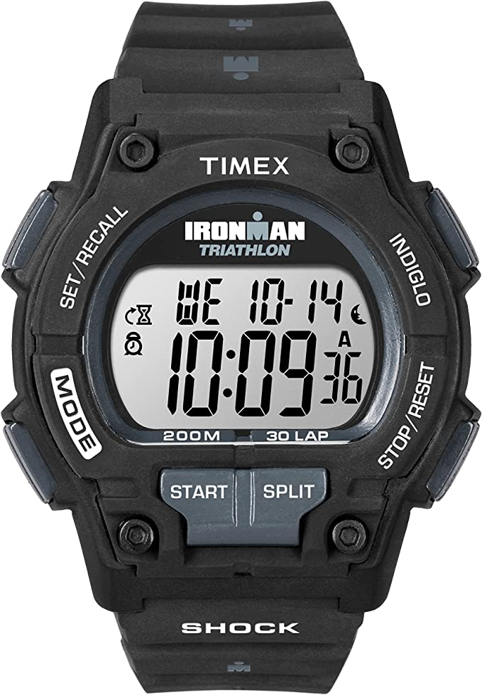 Timex Men's T5K196 Ironman Endure 30 Shock Full-Size Black Resin Strap Watch