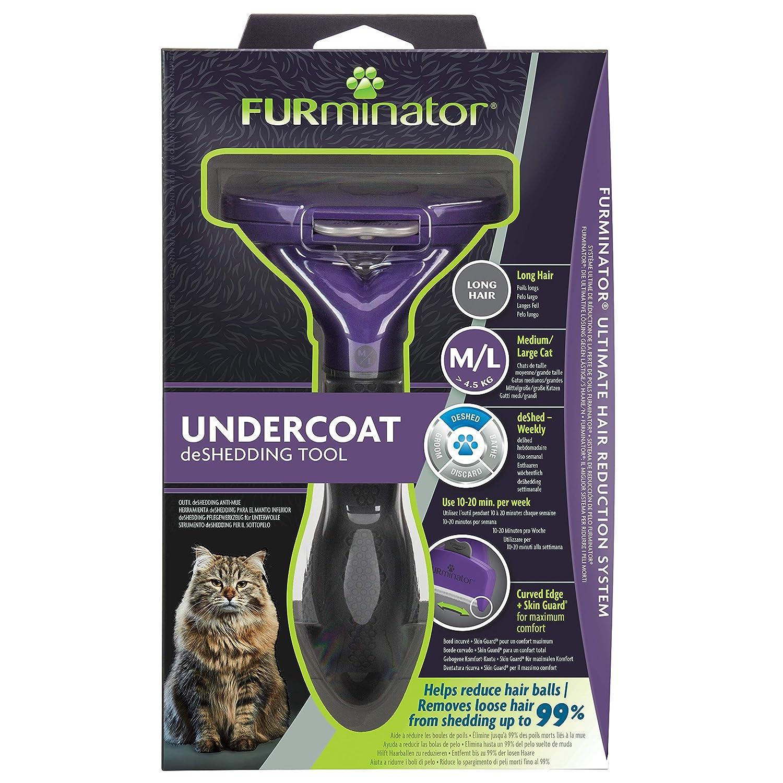 FURminator® Undercoat deShedding Tool para gatos medianos/grandes de pelo corto