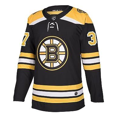 9b7f4959 adidas Men's NHL Boston Bruins Bergeron Home Jersey Black/Gold Size Medium