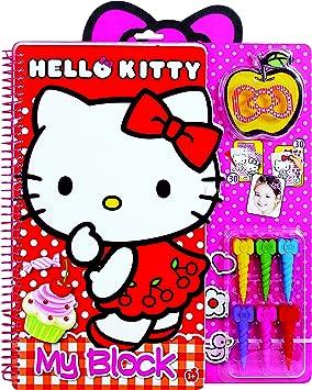 Hello Kitty 1023 59763 Set De Coloriage Crayon Magique My Block Amazon Fr Jeux Et Jouets