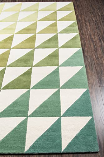 Novogratz Delamr Collection Agatha Side Triangles Area Rug, 8 0 x 10 0 , Lime Green
