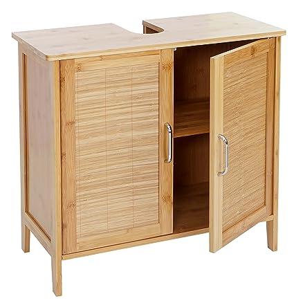 serie legno bambu narita arredo bagno armadietto sottolavabo ... - Arredo Bagno Sottolavabo