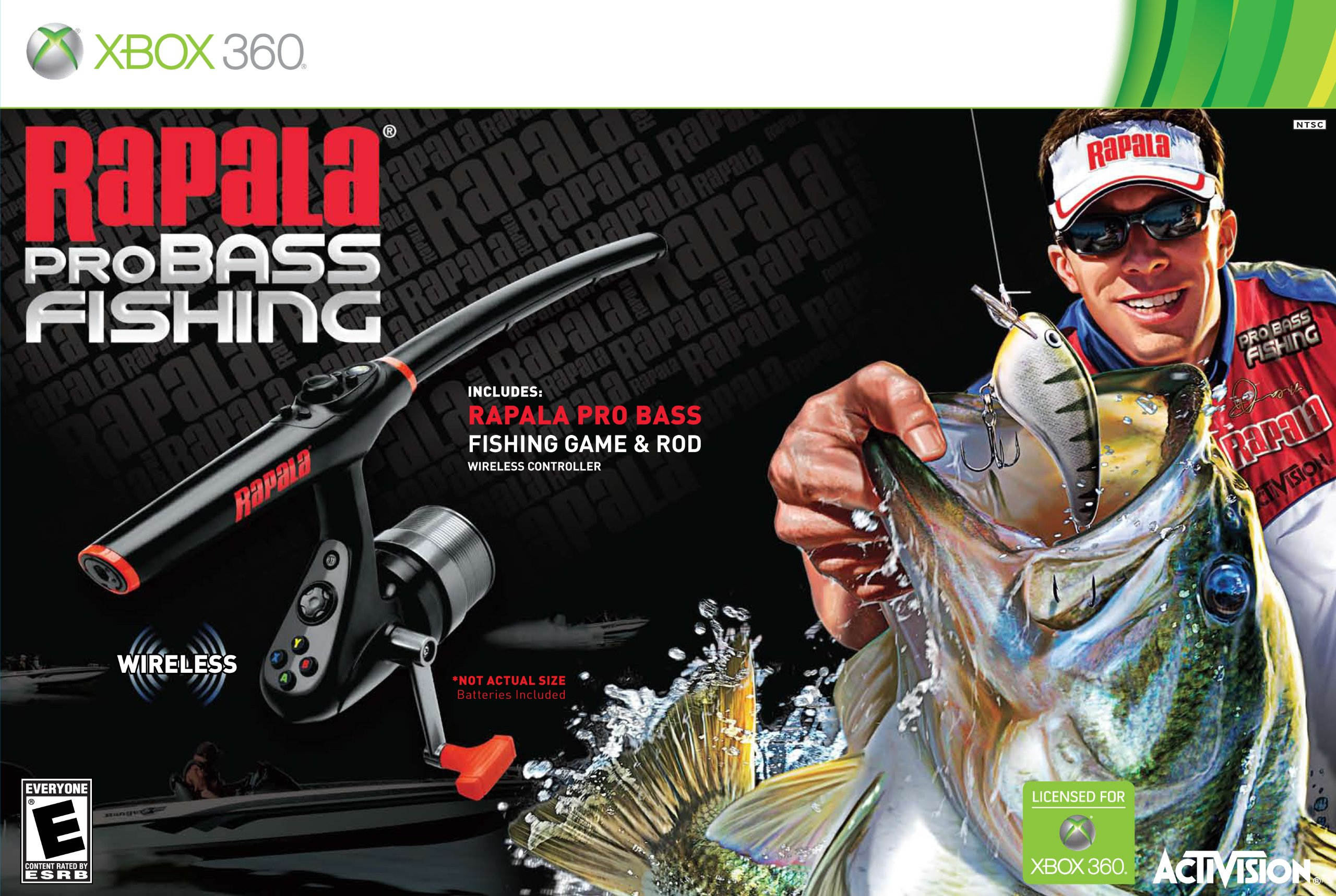 Rapala Pro Bass Fishing with Rod Peripheral -Xbox 360