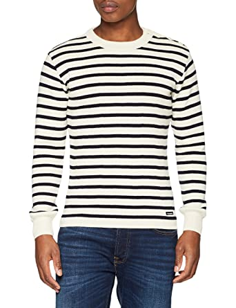 great quality arrives top brands Armor Lux Men's Pull Marin Rayé Foue Jumper