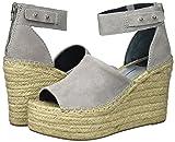 Dolce Vita Women's Straw Wedge Sandal, Smoke