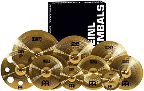 "Meinl Cymbals Ultimate Cymbal Set Box Pack with FREE 16"" Trash Crash – HCS Traditional Finish Brass – Made In Germany"