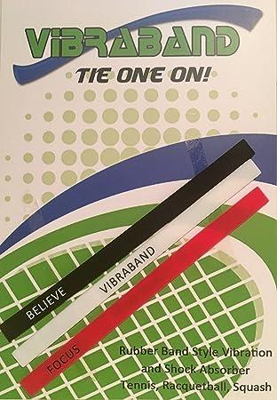Vibraband – Amortiguador de vibración de Tenis (Pack de 3) – Absorbe los Golpes