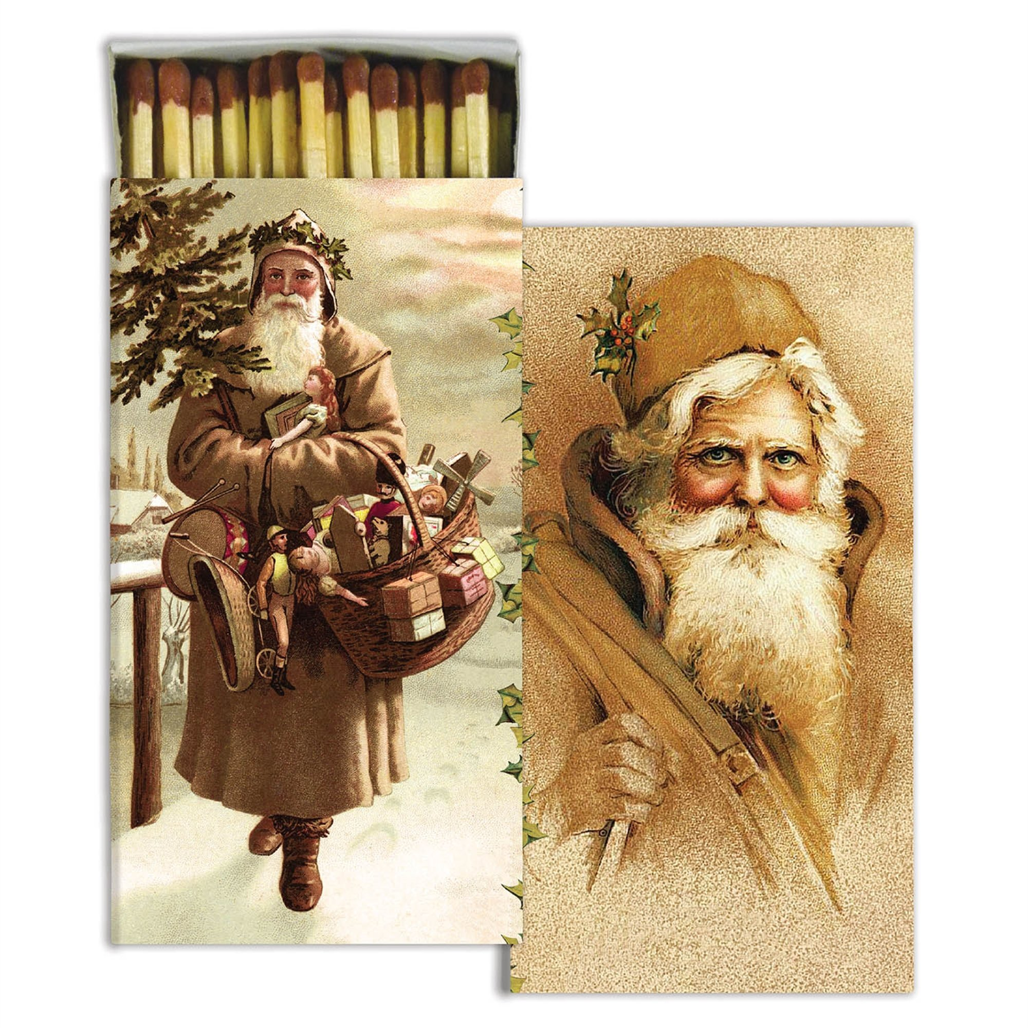 HomArt Large Decorative Father Christmas Santa Match Boxes (Set of 12)