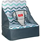 Nuby Easy Go Safety Lightweight High Chair Booster Seat, Great for Travel, Chevron