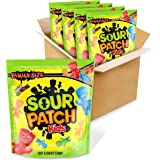 SOUR PATCH KIDS Soft & Chewy Candy, Bulk Halloween Candy, Family Size, 4 - 1.8 lb Bags