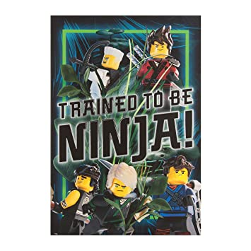Hallmark 25496800 Medium Lego Ninjago Ninja Birthday Card Amazon