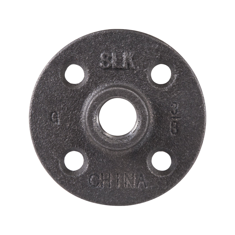 LDR 310 F-38 Floor Flange, Black, 3/8-Inch
