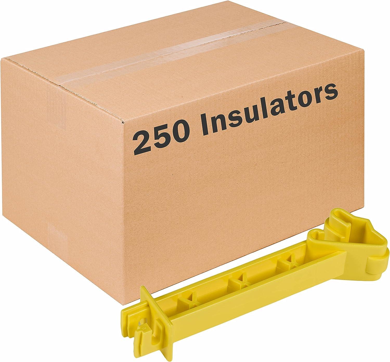 Zareba ITRXY-Z 5-Inch Snap-on Reversed Insulator Yellow
