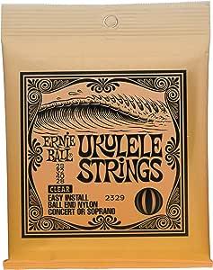 Ernie Ball P02329 Ernie Ball Concert Nylon Ball End Ukulele Strings, Clear, NA