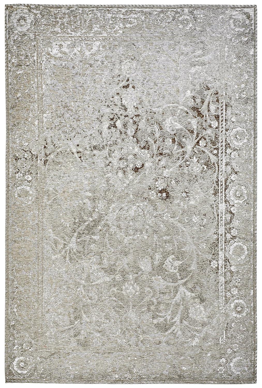 Moderner Teppich Vintage my Milano 573 grau, rot, gelb, shabby look,used look , flachgewebe (77 x 150 cm, MIL 573 taupe braun grau)