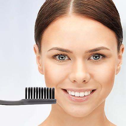 Cepillo de dientes de carbón suave, cerdas ultra-finas, para dientes sensibles,