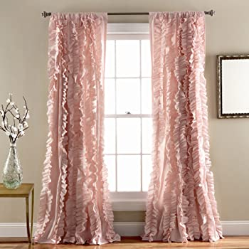 Amazon Com Lush Decor Belle Window Curtain Panel 84 Quot X