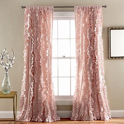 Lush Decor Belle Window Curtain Panel 84 X 54 Pink