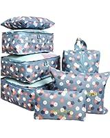 7 Set Travel Packing Organizer,Waterproof Mesh Durable Luggage Travel Cubes,1 Shoe Bag