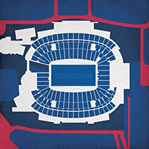 "Gillette Stadium Map Art, Unframed 12"" x 12"""