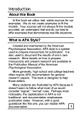 The APA Pocket Handbook: Rules for Format