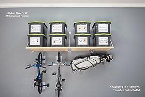 DIY Rhino Shelf Garage Shelves (8 Foot Length, 33.5