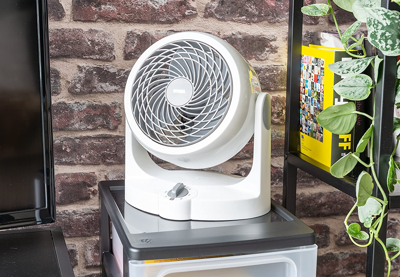 35,4 x 23,2 x 40 cm 33m/² Iris Ohyama 33 W ventilador silencioso con oscilaci/ón Woozoo pl/ástico blanco HM23
