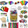 EpiqueOne 1500-Piece Craft Set for Kids – Arts & Crafts Kit for Use at Home or in School – Bulk Supplies for a Wide Variety o