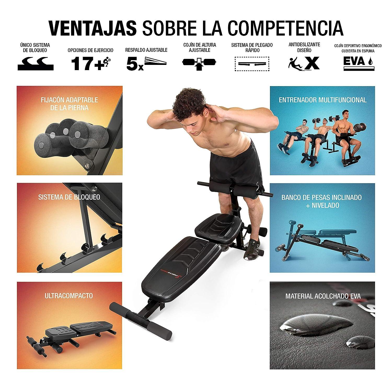 Sportstech BRT500 Innovador Banco de Pesas musculación 8en1 ...