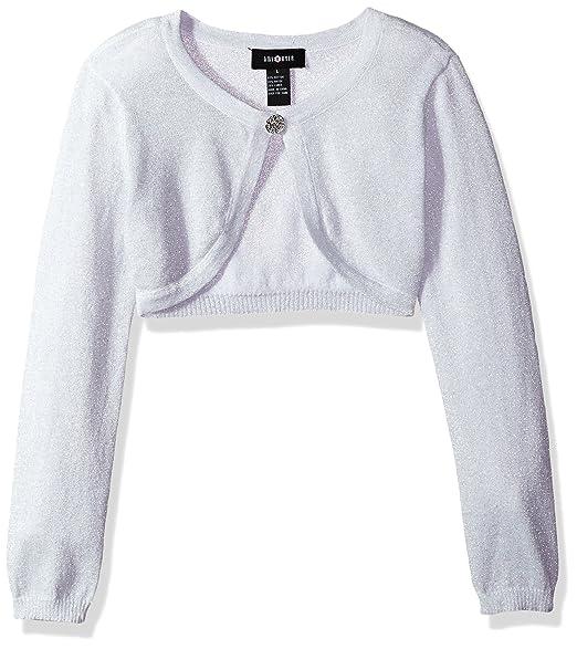 cb65b5f42dc Amazon.com  Amy Byer Girls  Big Long Sleeve Metallic Cardigan  Clothing