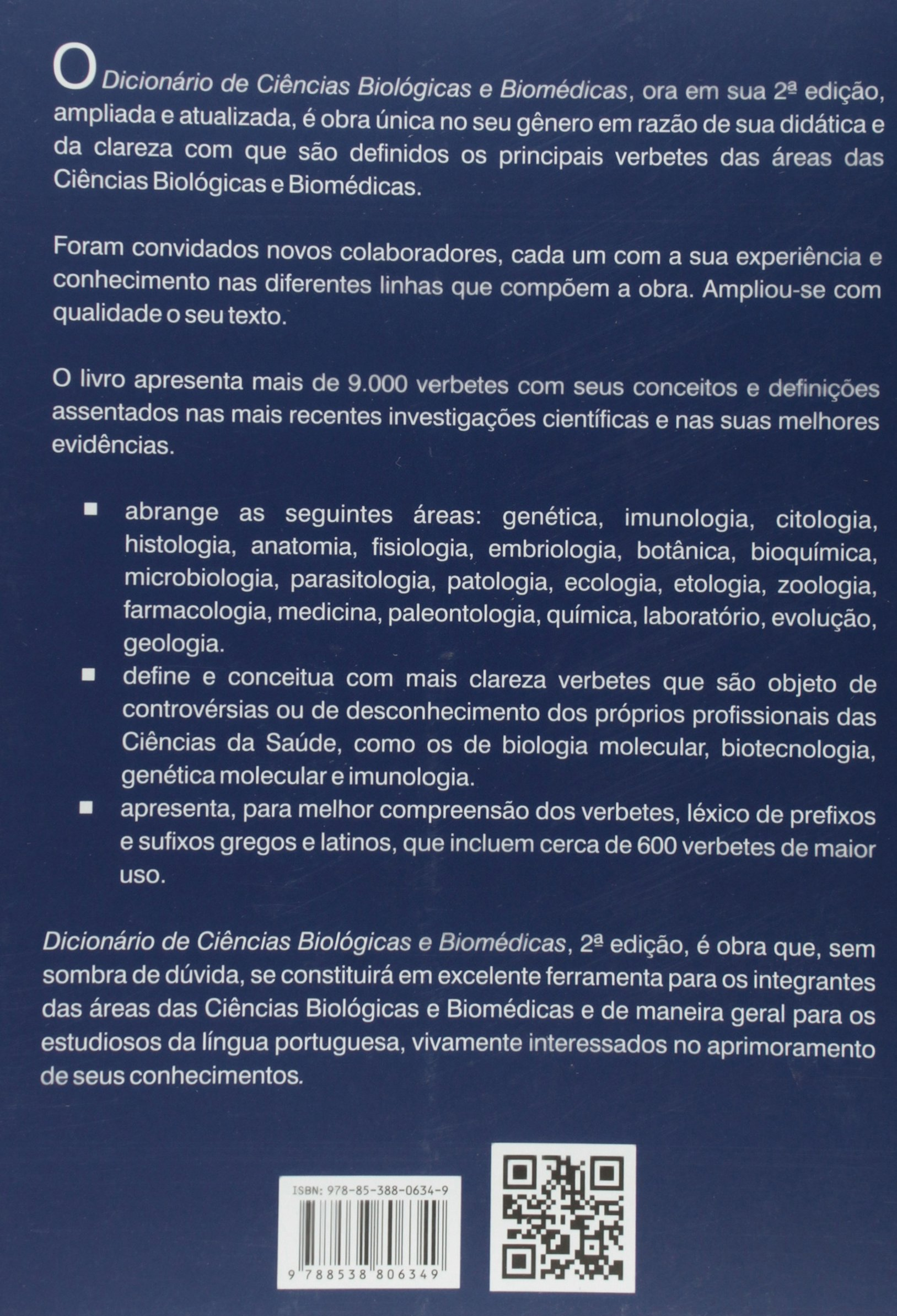 Dicionrio De Cincias Biolgicas E Biomdicas Marcos Marreiro Villela 9788538806349 Amazon Books