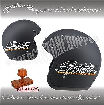 Pegatinas Sportster réplica Harley Davidson para casco de Moto Custom