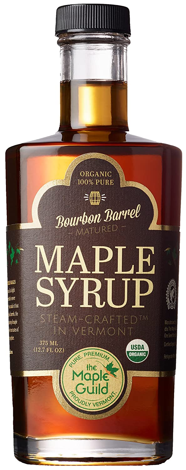 Maple Guild Organic Bourbon Barrel Aged Vermont Syrup, 12.7 Ounce