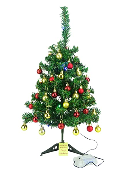 christmas concepts 2ft luxury pre decorated christmas tree traditional red gold design complete - Pre Decorated Christmas Trees